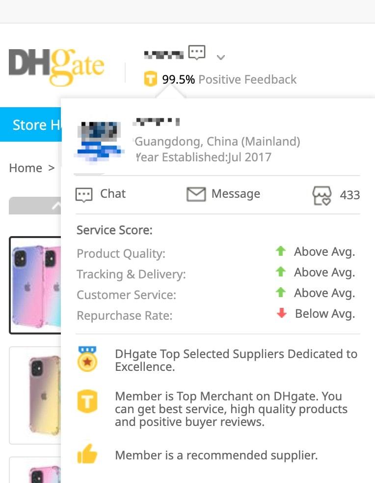 dhgate seller accessment
